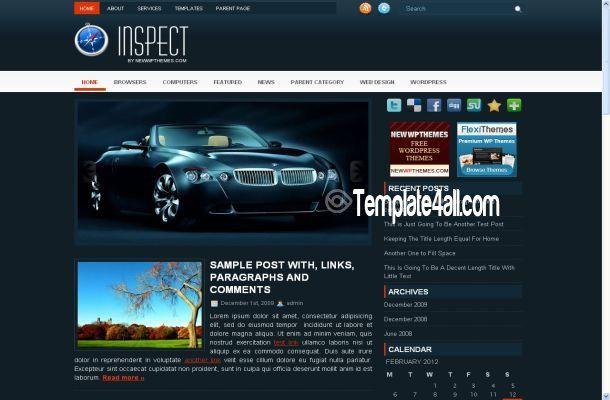 Abstract Blue Wordpress Template - Wordpress Themes #wordpress ...
