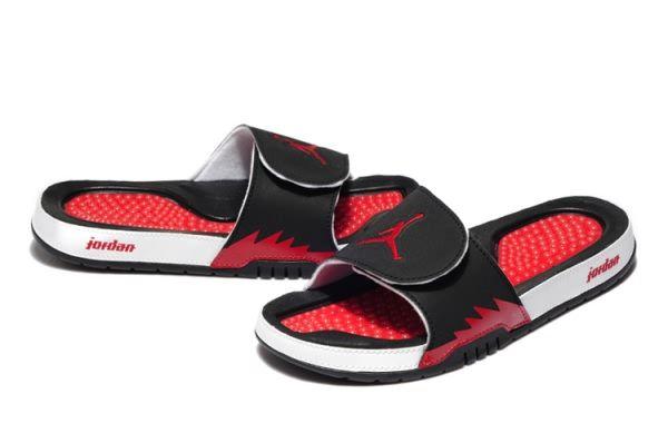 Air Jordan 5 Slipper Black Grey Red