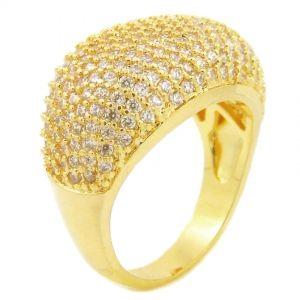 Anel Semi-jóia Cravejado Com Zircônias - Rivera Jóias