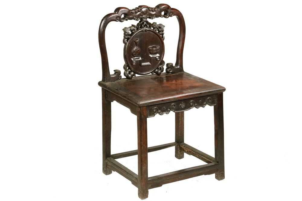 19th c chinese carved rosewood chair with taotie mask framed back rh pinterest com
