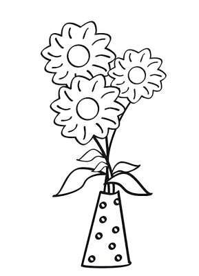 dibujo de flores para colorear  DIY y manualidades  Pinterest