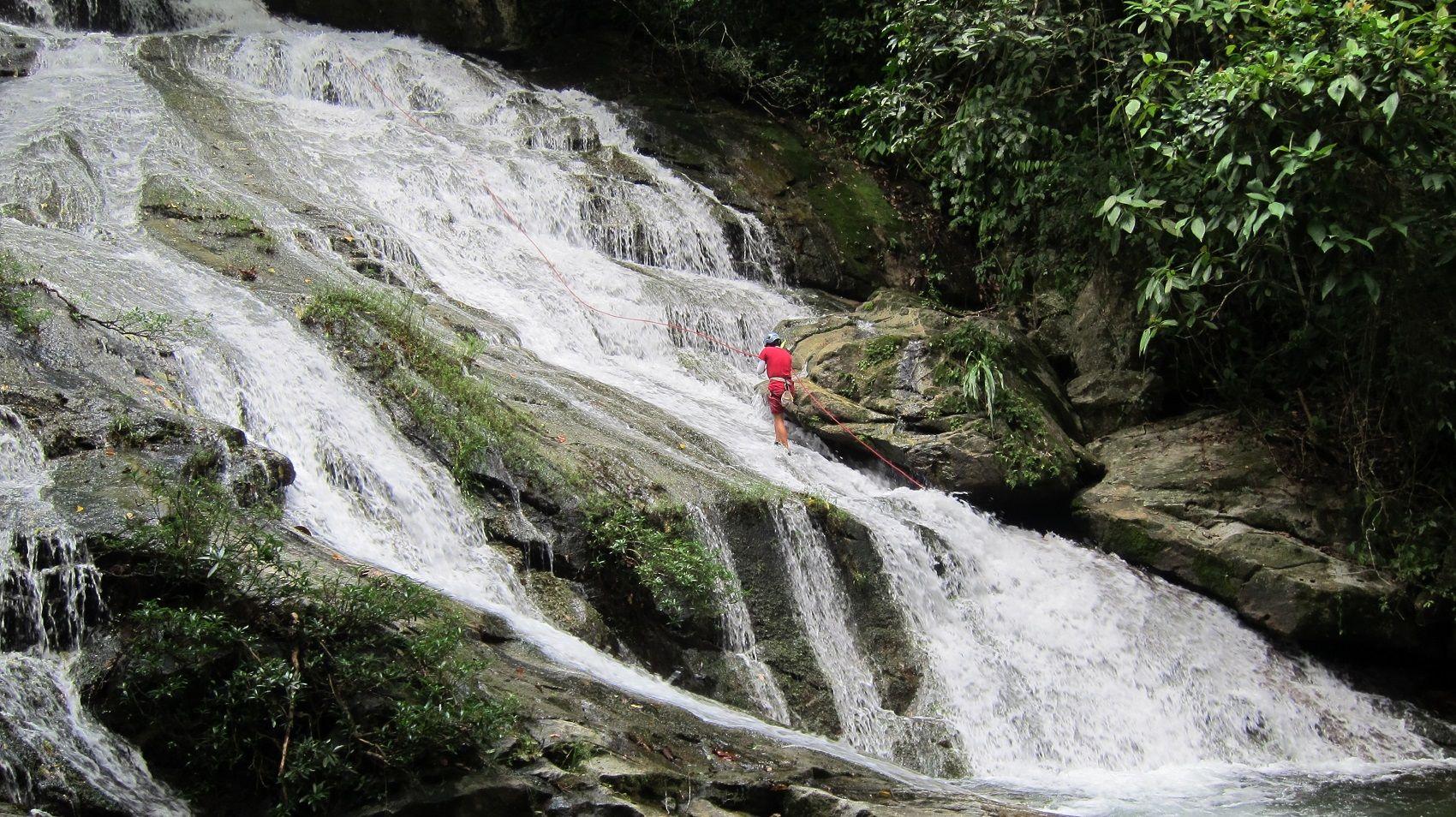 Bocawina zip line waterfall rappelling rappelling