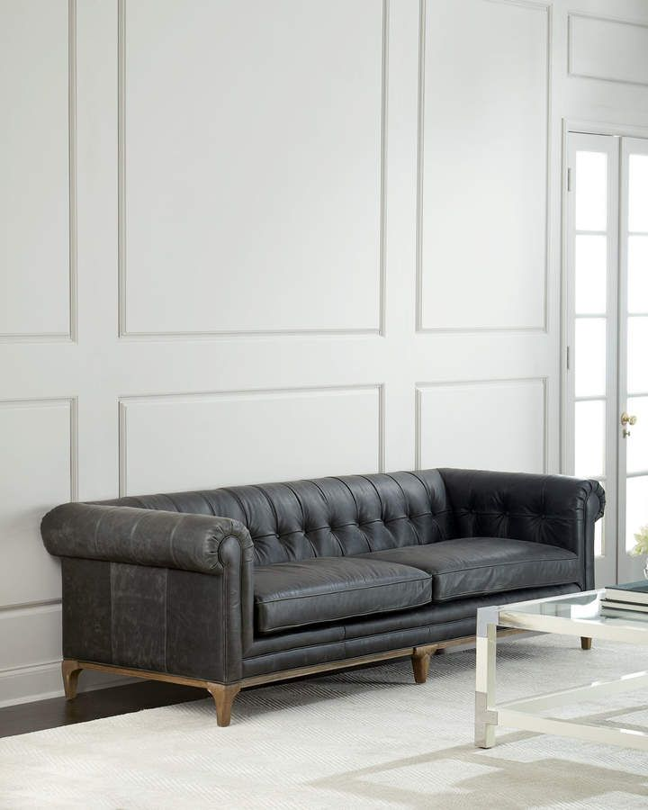 caprice tufted leather sofa 95 in 2019 products tufted leather rh pinterest com