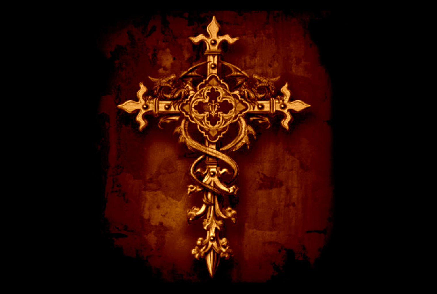 crosses golden cross on graphic background hd wallpaper background