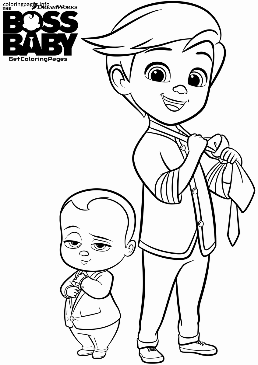 Dreamworks The Boss Baby Coloring Pages Free Printable Boss Baby