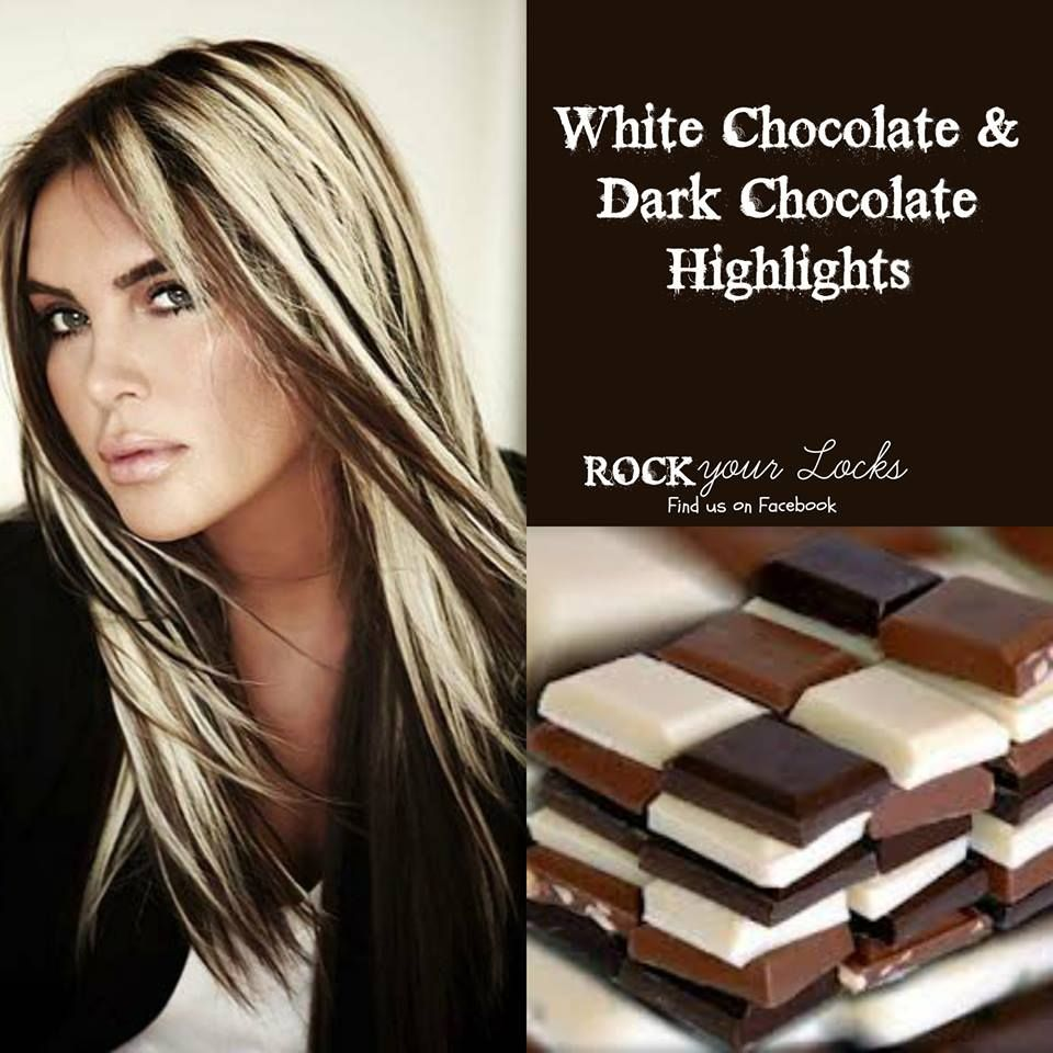 Chocolate and Blonde Highlights - Hair Colour Inspiration ♡ Rock ...