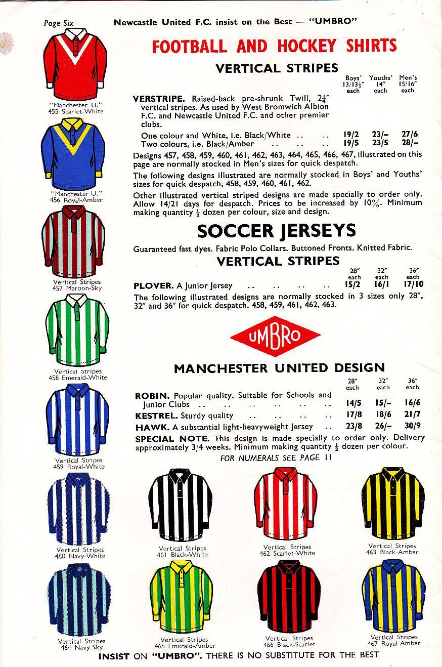 True Colours Football Kits » Umbro Catalogue 1957  b969d6056