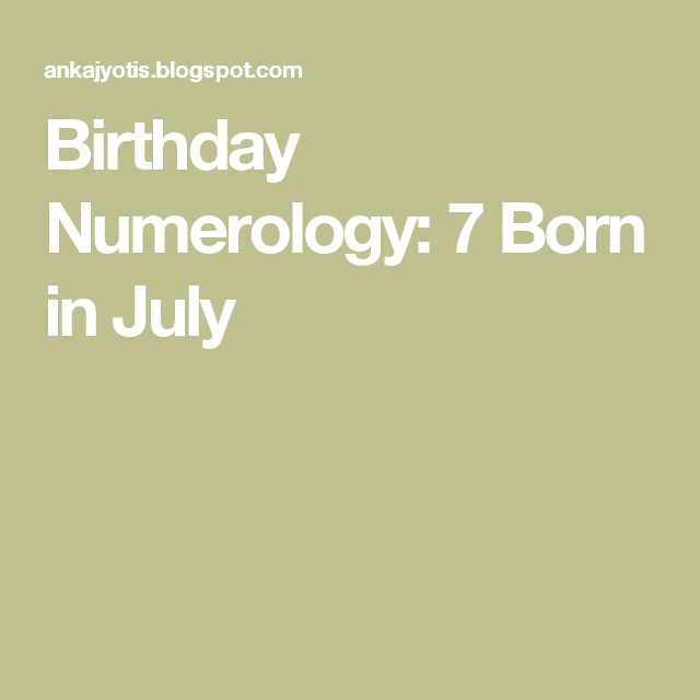name based on numerology date of birth 7 february