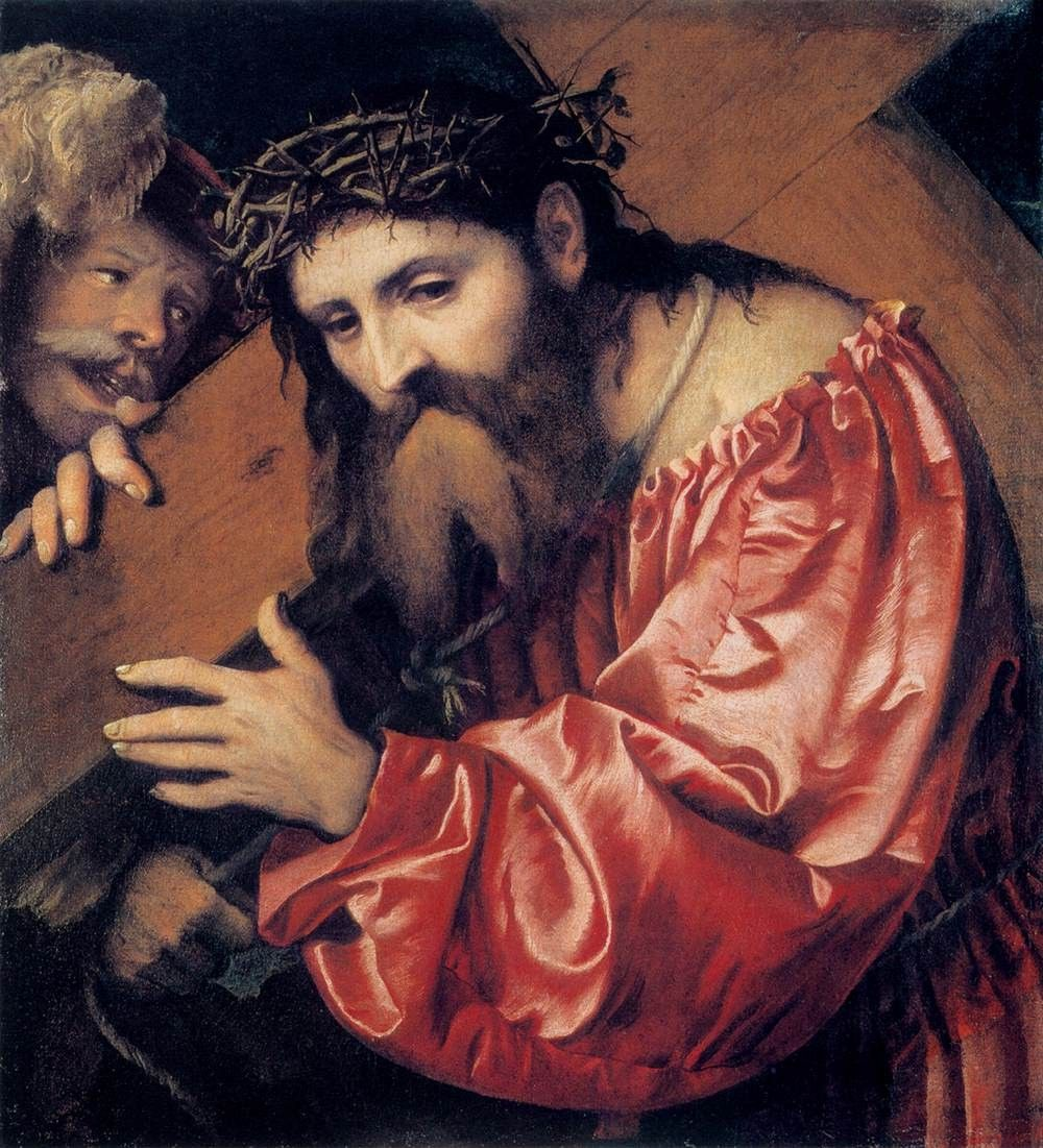 girolamo romani romanino christ carrying the cross c 1535