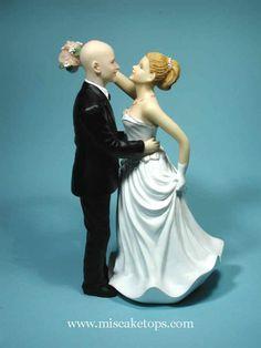 Bald Groom Wedding Cake Toppers Bald Groom With Bride