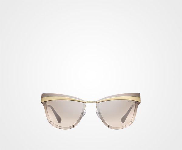 16d042bb277 Prada Cinéma eyewear Prada MIRRORED GRADIENT COFFEE TO CLAY GRAY LENSES