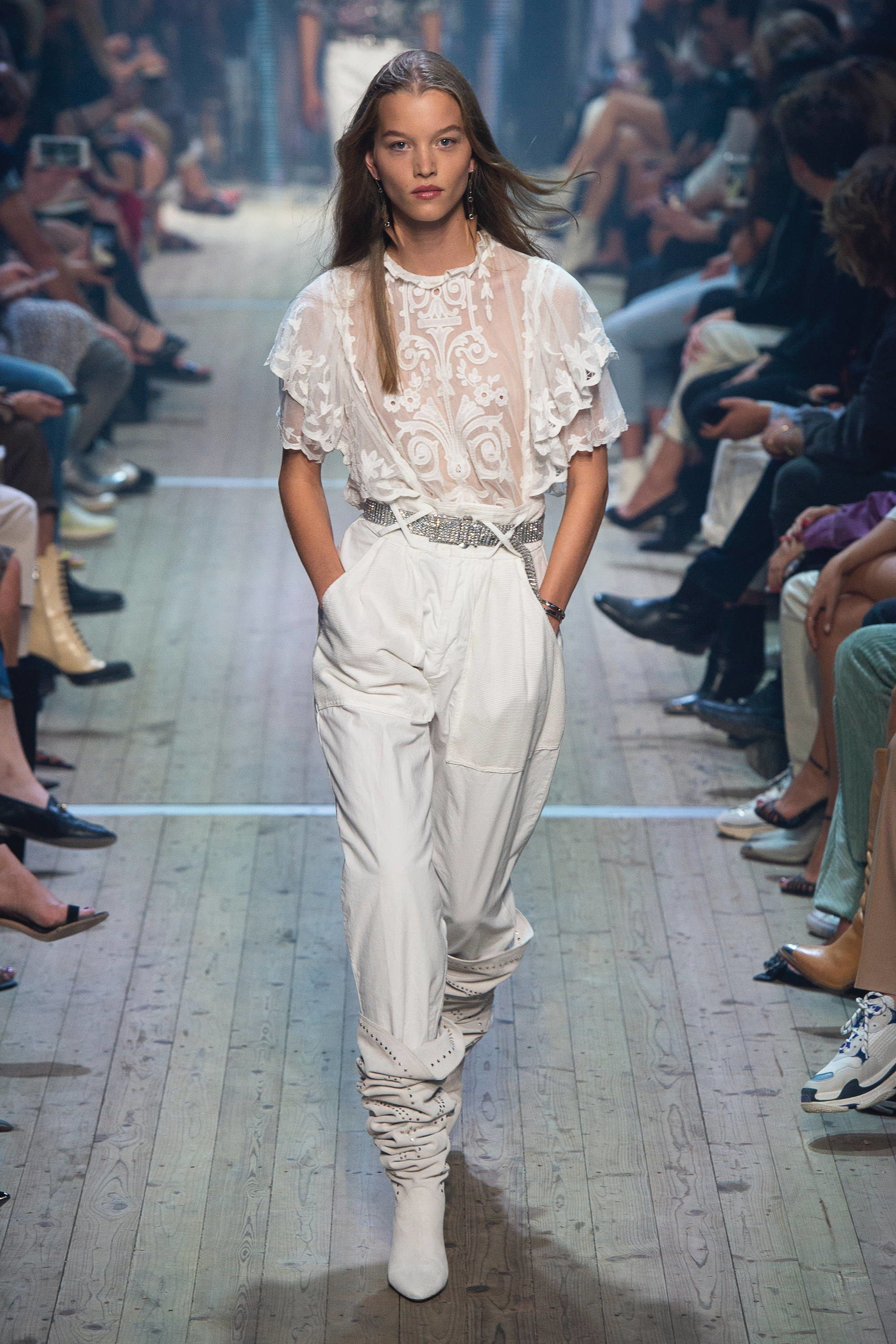 cc81ff007c2c The complete Isabel Marant Spring 2019 Ready-to-Wear fashion show now on  Vogue Runway.