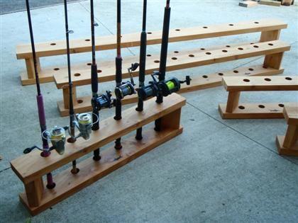 Fishing rod holders for home rod racks pinterest for Fishing rod holders for home