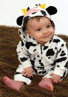 Cute Animal Baby Clothes All In One Outfit, Animal Cow Print ...