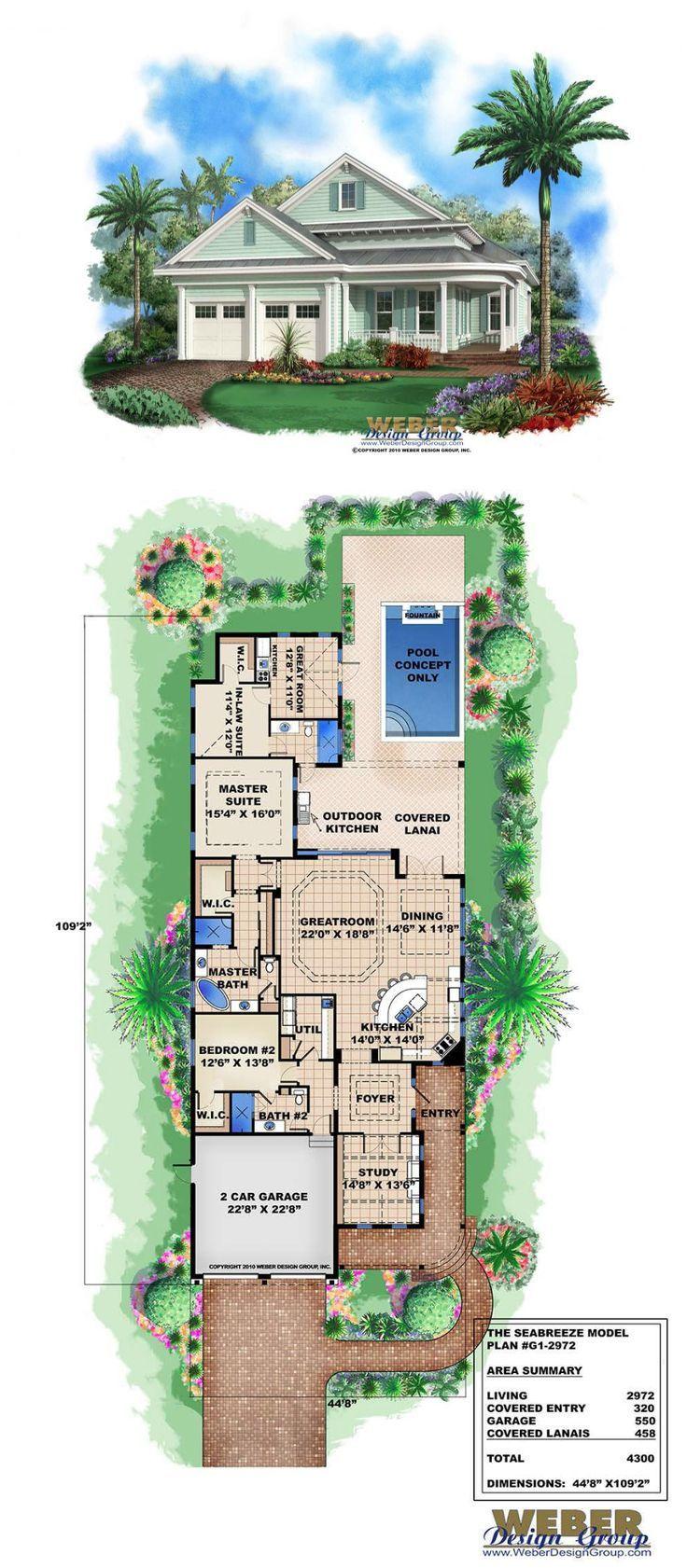 Seabreeze House Plan Narrow house plans