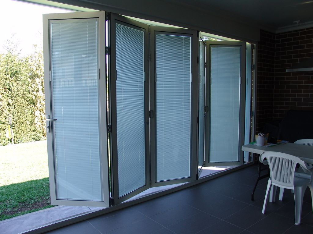 French Doors Built In Blinds With Between The Gl Aluminium Folding