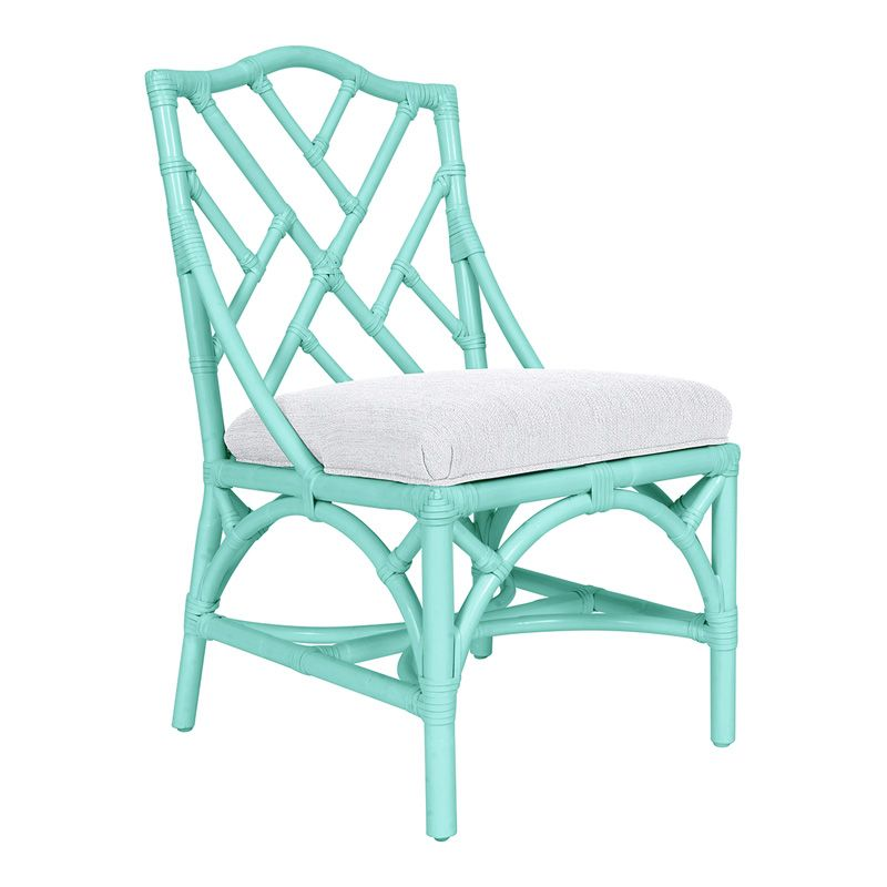 Chippendale rattan accent chair with cushion httpswww