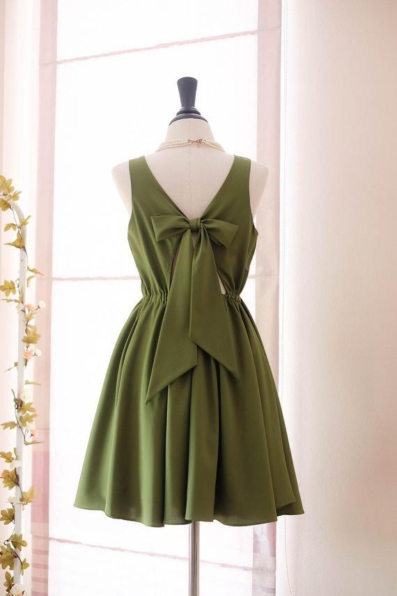 e65a3f6b852 Moss Green Dress Green Bridesmaid dress Prom dress Lolita Wedding Party  dress Bridal party Cocktail