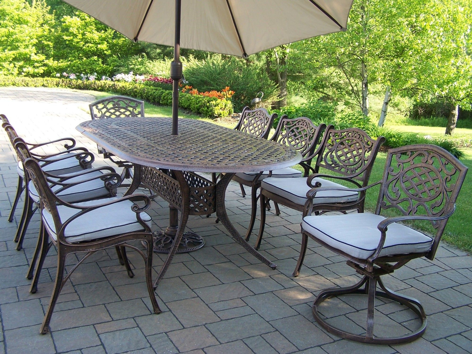 mississippi dining set with cushions and umbrella products rh co pinterest com