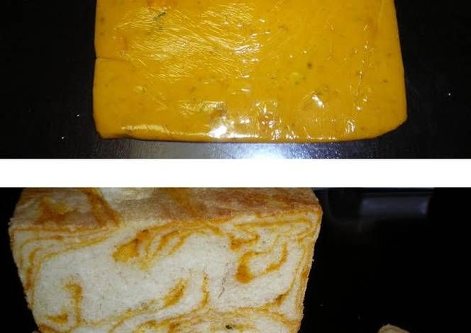 Easy Kabocha Squash Marbled Bread Recipe -  Let's cook Easy Kabocha Squash Marbled Bread by yourself!