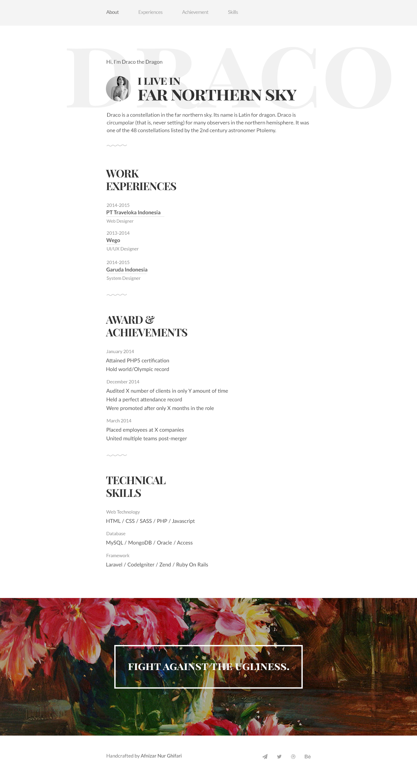 A resume template for showcasing your resume or to use as personal ...