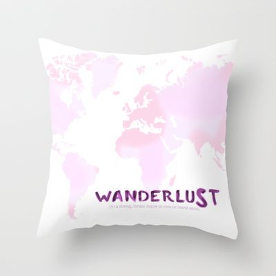 #Wanderlust Throw #Pillow by Anna Andretta - $20.00