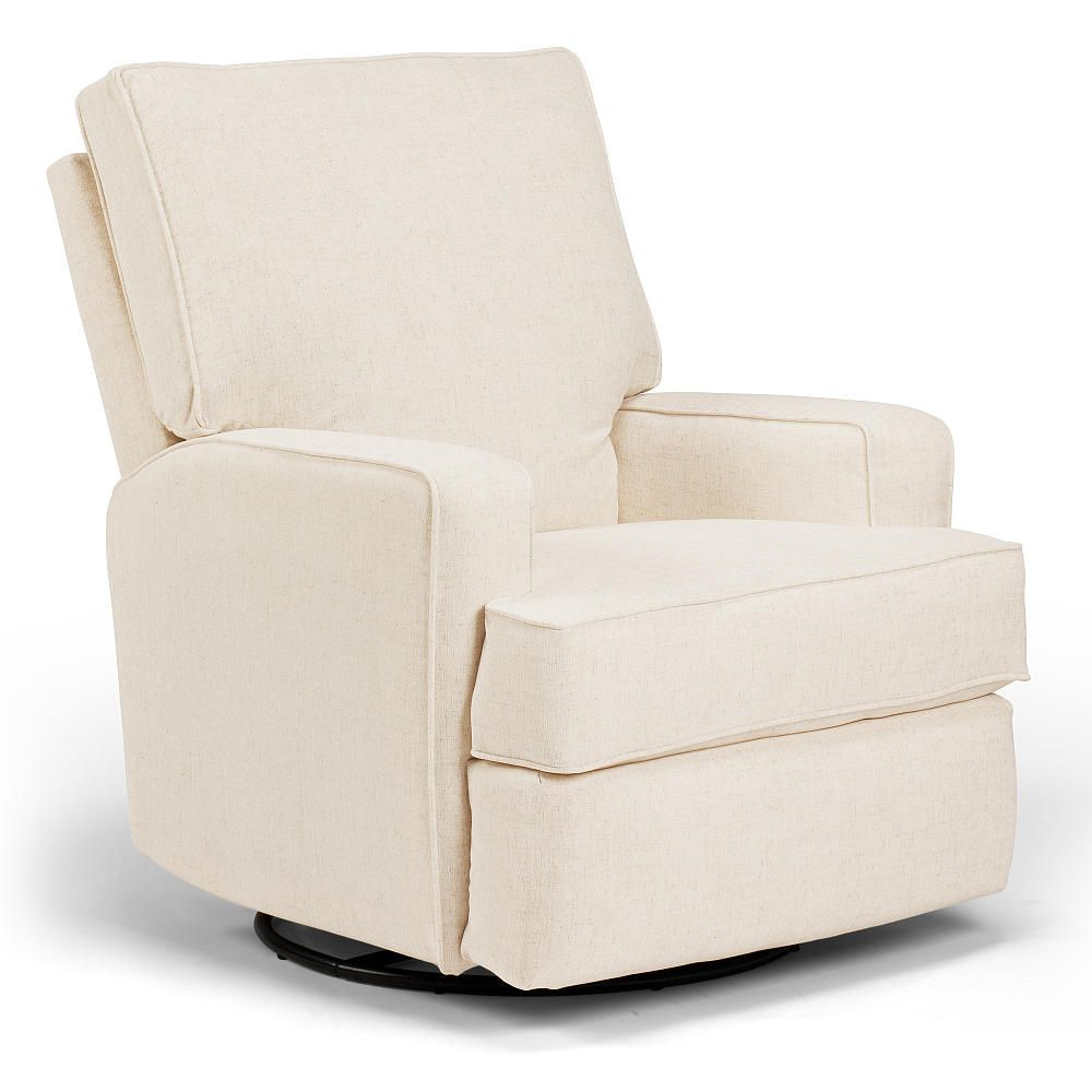 Lean Back With Your Little One On This Plush Swivel Glider