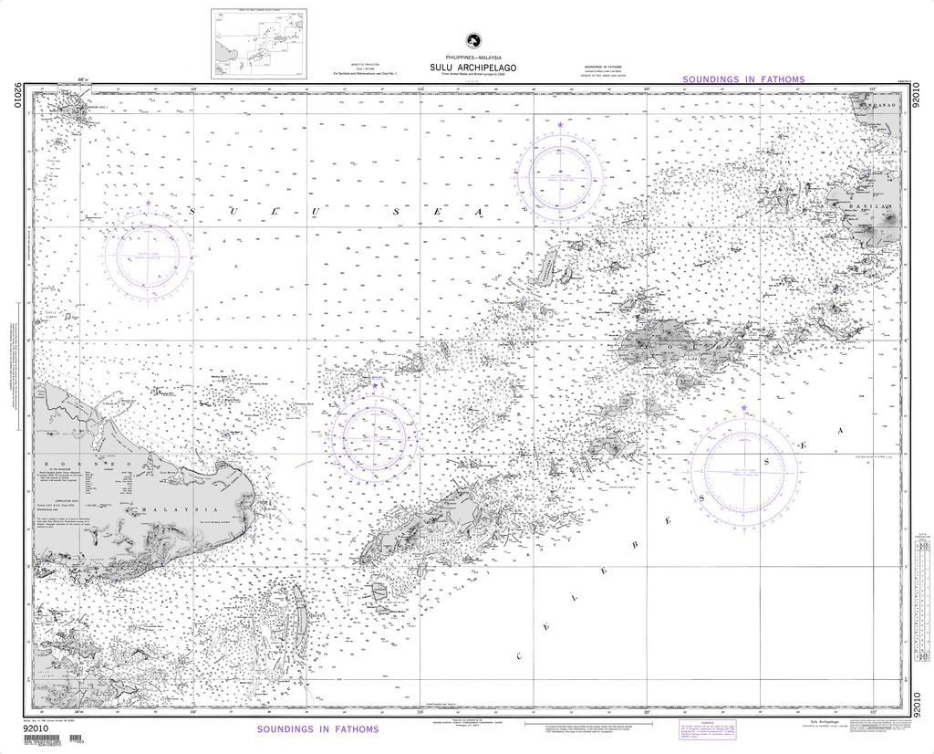 Nga Chart Sulu Archipelago Philippines Malaysia