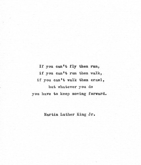 Martin Luther King Vintage Typewriter Quote 'Keep moving forward' Inspirational American History Motivational Print Civil Rights 1960s