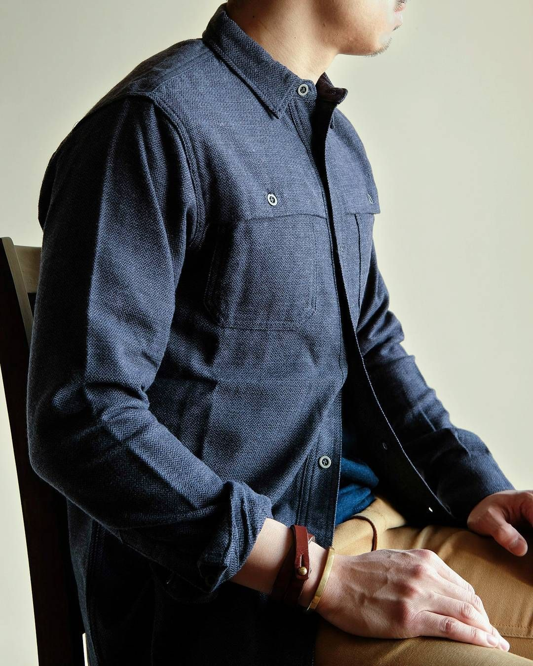 671526df436 Herringbone Flannel Hunting Shirt in Navy.... absolutely awesome. From   weatheredfig Follow  runnineverlong on Instagram for more inspiration