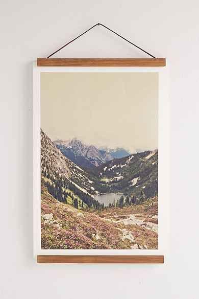 Wooden Print Dowel Hanger Home Inspiration Blank Walls Decor