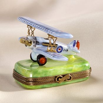 Limoges blue biplane box