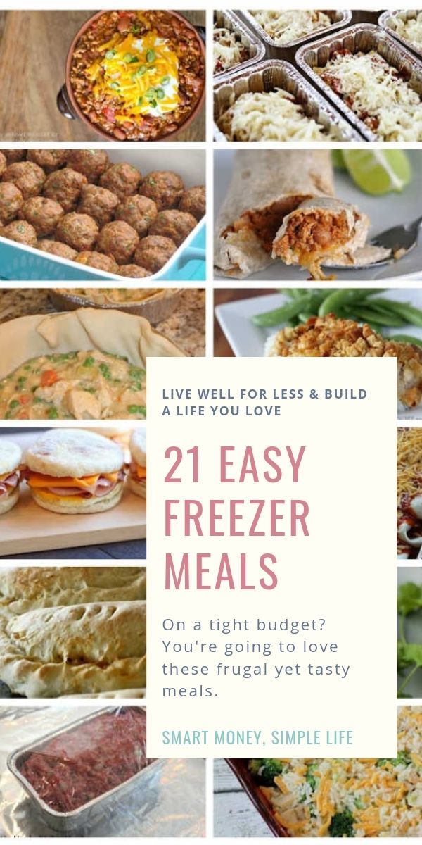 21 Cheap & Easy Freezer Meals for a Frugal Budget images