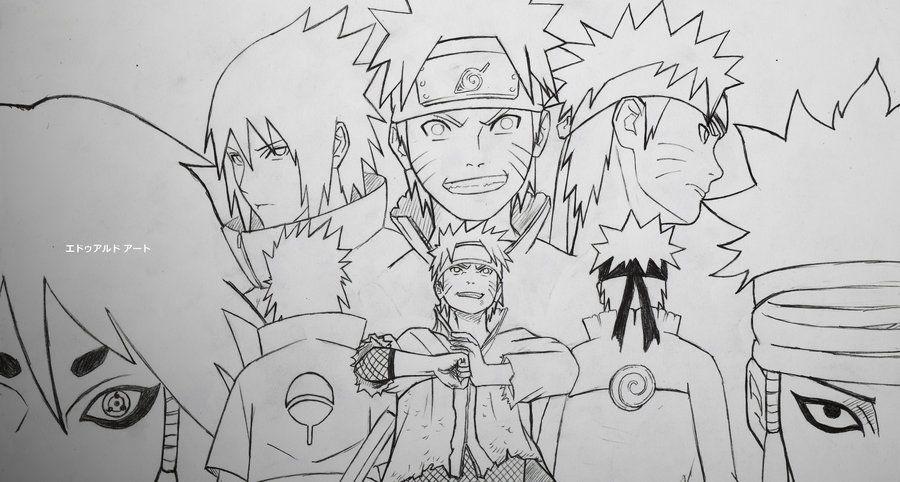 Uzumaki Naruto and Sasuke Uchiha by adhoedwardo Dessin