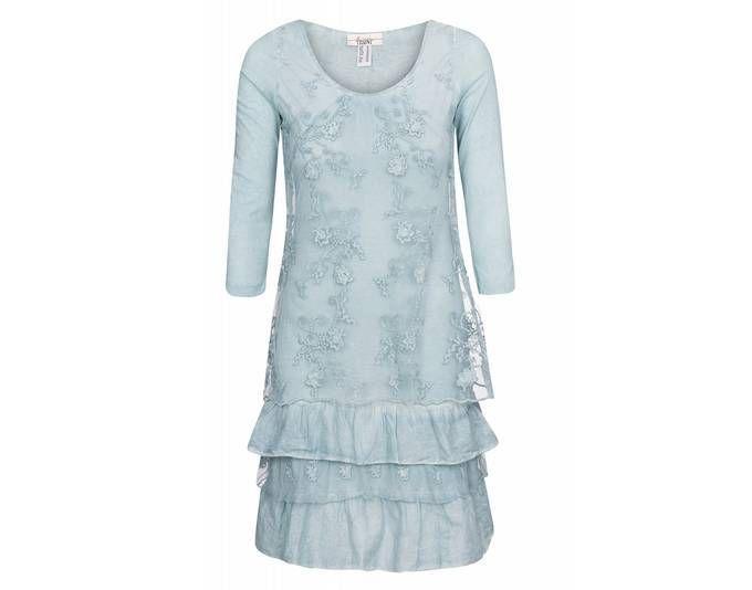 linea TESINI by heine Kleid Damen Spitzen-Kleid Sommer-Kleid Blau im ...