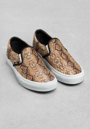 vans slip on snake
