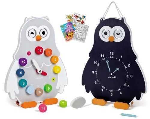Janod 08132 Double-Sided Owly Clock Time Telling Educational Set with Coloring Book, http://www.amazon.com/dp/B00ISHBW4K/ref=cm_sw_r_pi_awdm_bxQTub11TMGCX