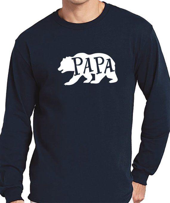 09dfbca94 Papa Bear Brother Shirt Shirts for Men Daddy Tshirt Pap Papi Dad Gift  Novelty Gifts Mens Tshirts Fun