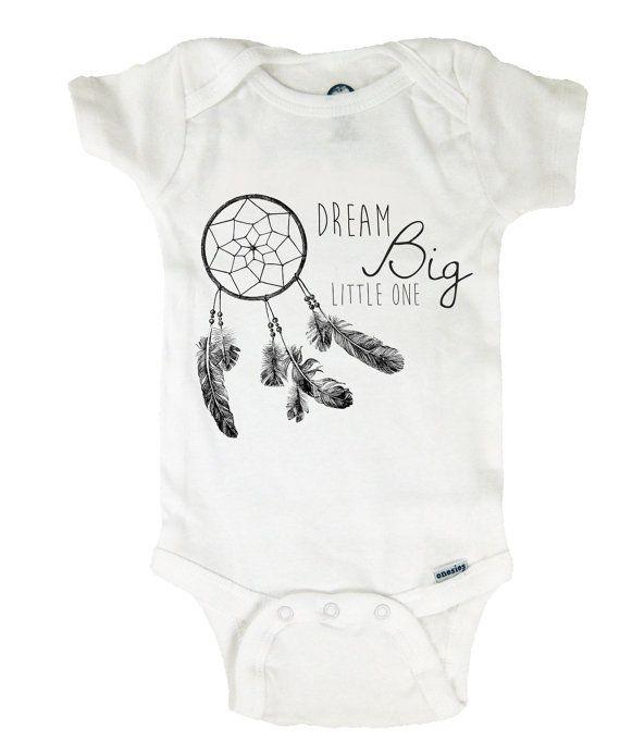 Baby esie Boho Dreamcatcher Dream Big Little by