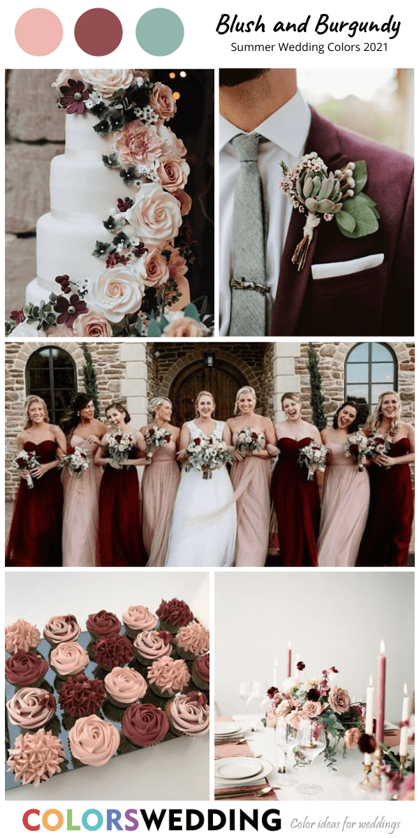 Best 8 Summer Wedding Color Combos For 2021 Fall Wedding Color Schemes Burgundy Wedding Colors Fall Wedding Colors