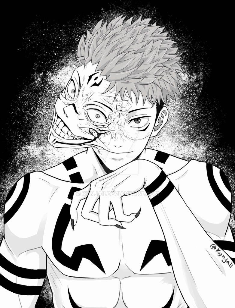 Itadori Yuuji And Ryomen Sukuna Tomie Reference By Kynjaii On Deviantart In 2021 Anime Character Design Anime Jujutsu