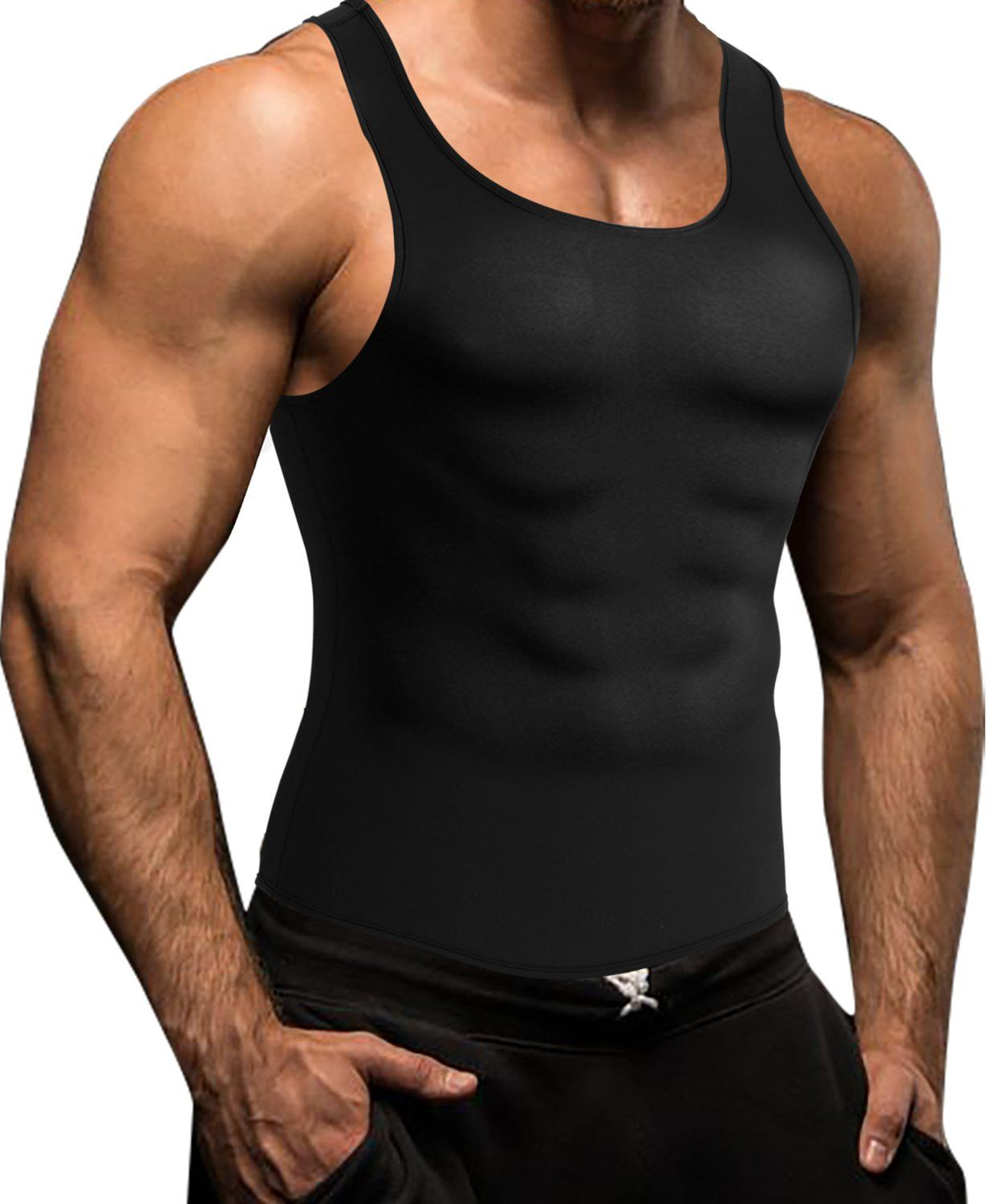 d684aa42b5fbc Men Waist Trainer Corset Vest for Weight Loss Hot Neoprene Body Shaper Tank  Top Sauna Suit