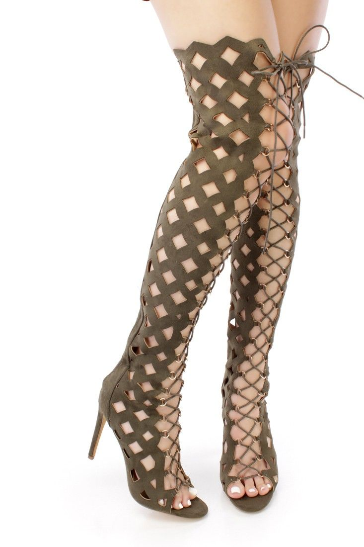 6c6b3352046 Doll up any outfit with these stylish thigh high boot heels! They will look  super