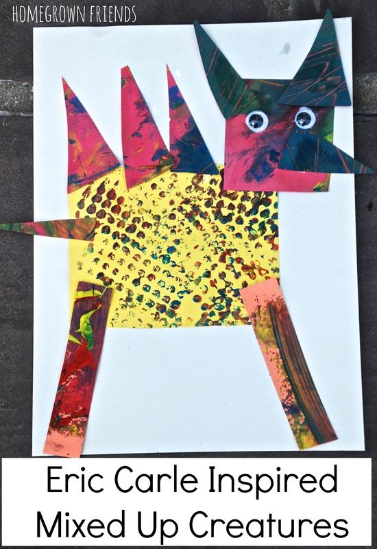 Eric Carle Inspired Mixed Up Creatures from Homegrown Friends