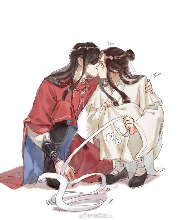 天官赐福:谢怜和花城接吻,所有人都看明白了,只有权一真不懂! | Mực, Dễ thương, Mac