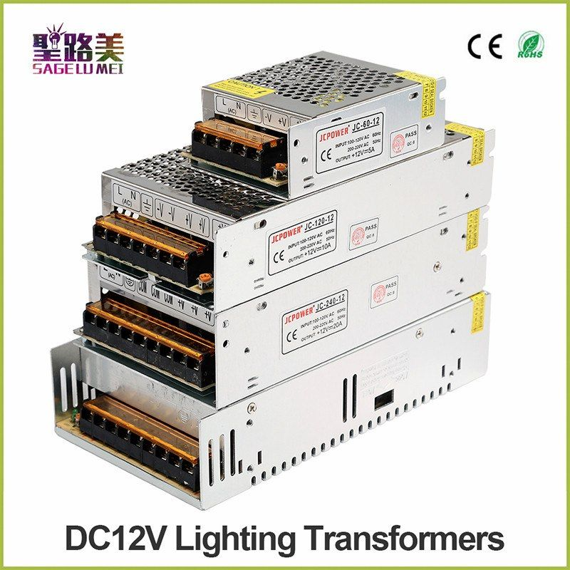 Ac 110v220v To 12v 5a 10a 20a 25a 33a 40a Laboratory Lighting Transformer Led Switching Dc Power Supp Led Power Supply Cctv Security Systems Led Strip Lighting