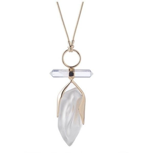 Alexis bittar faceted rock crystal pendant 225 liked on alexis bittar faceted rock crystal pendant 225 liked on polyvore featuring jewelry aloadofball Images