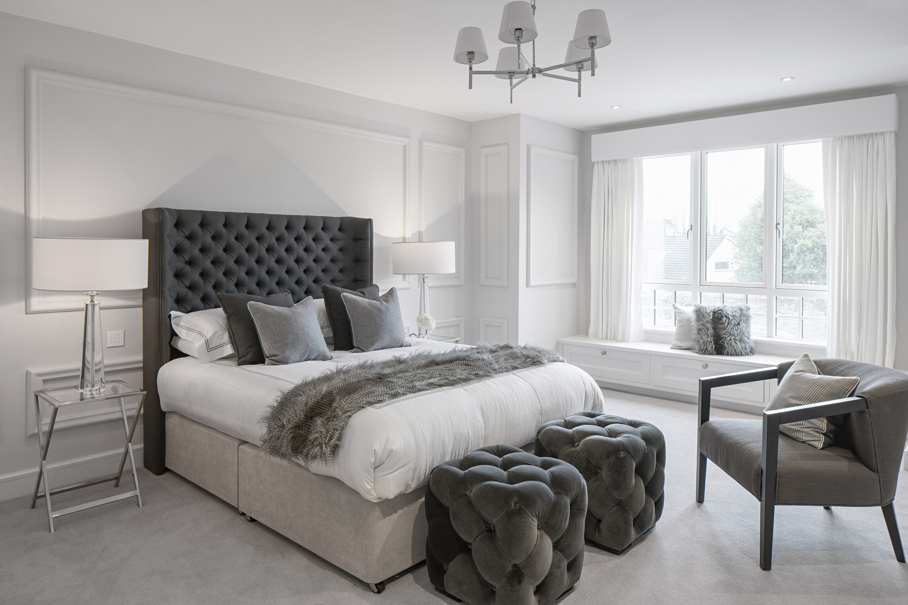example of back wall grand for head board | Home bedroom ...