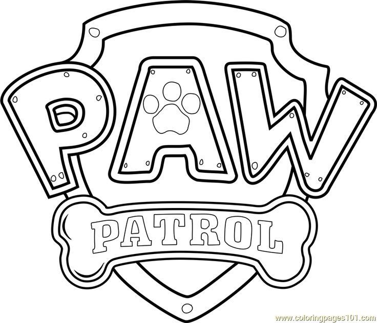 paw patrol logo printable coloring page for kids a