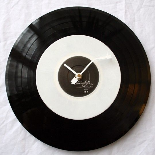 12 Inch Vinyl Record Wall Clock Vinyl Records Diy Records Diy Indie Craft